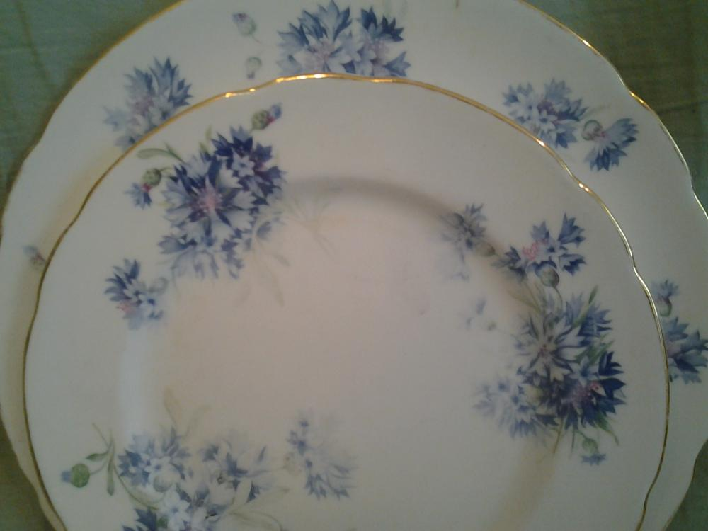 "Vintage English Bone China ""Cornflower"" Hammersley & Co T Goode Co London"