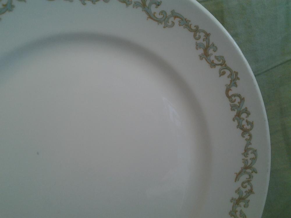 "Vintage Haviland Limoges Plate Aqua Pattern 8.75"" France"
