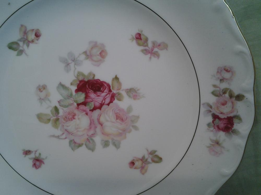 "Beautiful ""June Rose"" Shumann Arzberg Germany Set of Three- 1 Plate & 2 Bowls"